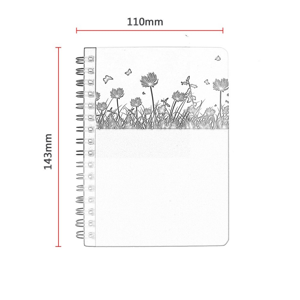 premium mini hard cover notebook writing journal portable coil