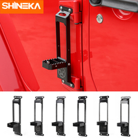 SHINEKA Chromium Styling For Jeep Wrangler JK 2007 2017 Car Door Hinges Climbing Kit Foot Rest Pedal Peg For Jeep Wrangler JK