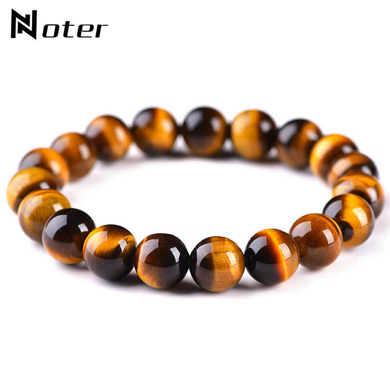 Minimalist 4mm 6mm 8mm 10mm Tiger eyes Beads Bracelet Men Charm Natural Stone Braslet For Man Handmade Casual Jewelry Pulseras