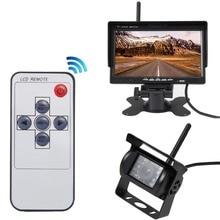 Vehículo Camión de Copia de seguridad inalámbrica y Cámara de 7 pulgadas Monitor HD IR Visión Nocturna Impermeable Cámara de Visión Trasera de Ayuda Al Aparcamiento