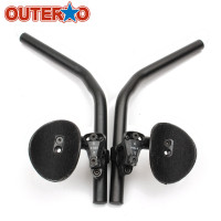 OUTERDO Aluminium Alloy Bicycle Arm Rest Handlebar Cycling Aerobar Rest Bar Vice Handlebar Bicycle Parts For
