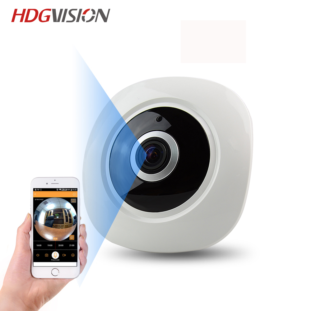 HDGVISION 1 3MP IP Wifi Camera Two Way Intercom VR Smart 360 Network Surveillance Home Protection
