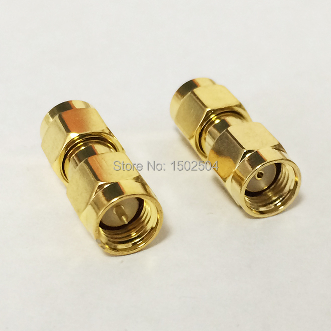 1pc SMA male plug  to RP-SMA male plug RF Coax Adapter convertor straight  goldplated NEW wholesale 2pcs lot yt70b rp sma male plug switch sma female jack rf coax adapter convertor connector straight goldplated sell at a loss