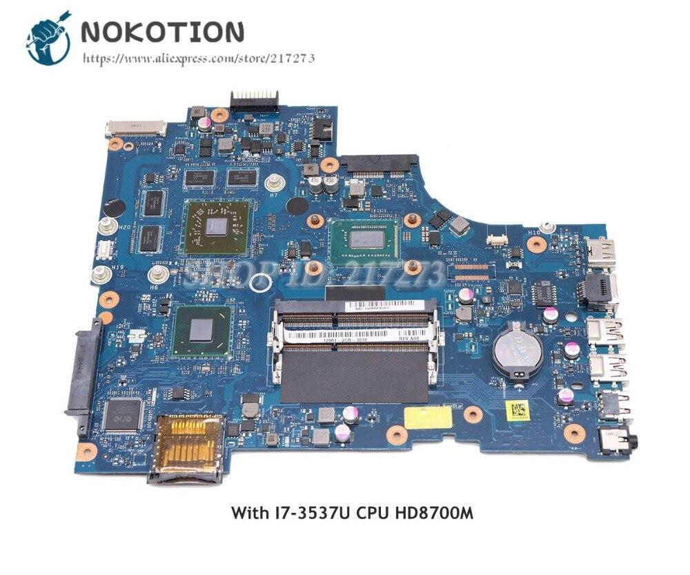 NOKOTION CN-0V98DM 0V98DM Laptop Motherboard For Dell Inspiron 17R-3721 5721 Main Board VAW11 LA-9102P I7-3537U CPU HD8700M