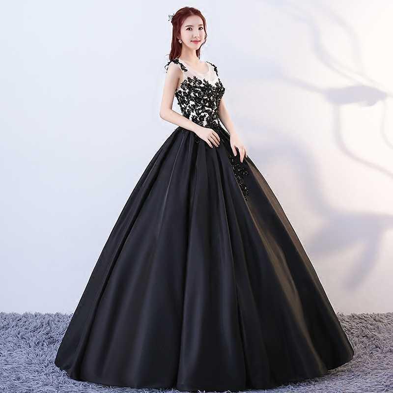 3a3ac25b4 ... Ruthshen negro y blanco satén vestidos de quinceañera elegante vestidos  de baile de Debutante 15 adolescentes ...