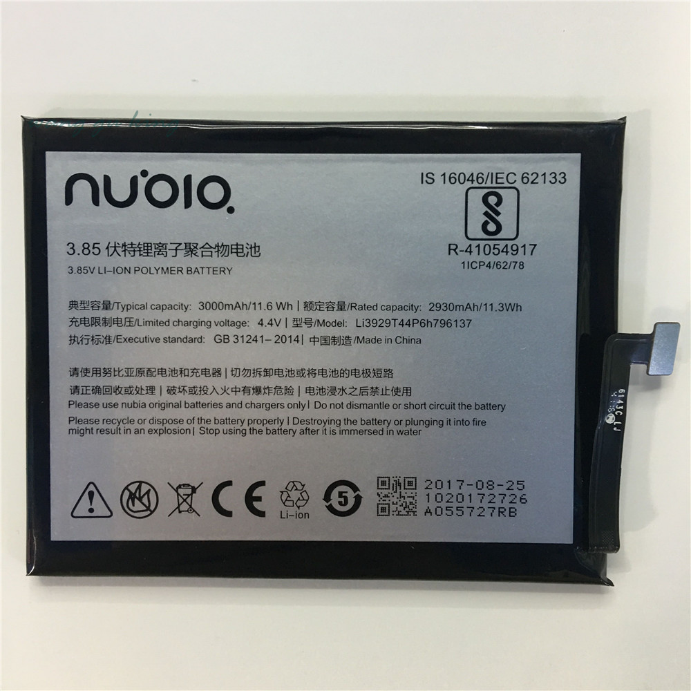 100% D'origine Li3929T44P6h796137 Batterie Pour ZTE Nubia Z11miniS Z11 miniS NX549J Z17mini Z17 mini NX569H NX569J Batterie 3000 mAh