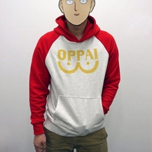 One Punch man Saitama Oppai hoodie Hooded Sweatershirt  S/M/L/XL/XXL SIZE Cosplay Costume