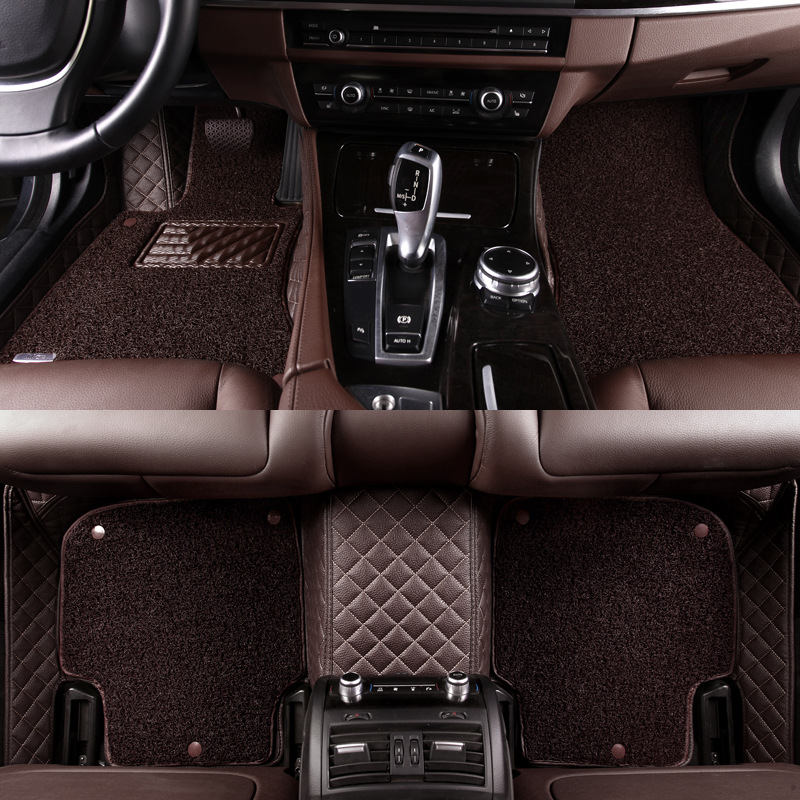 HLFNTF Custom car floor mats For audi A6 A5 A4 A3 A2 R8 Q3 Q5 Q7 S4 A7 A8 car accessories