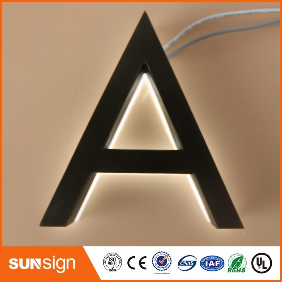 Backlit Sign Letter Acrylic Illuminated Letter Sign For Shop
