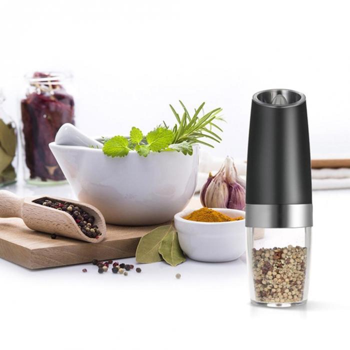 Автоматический фрезерный Электрический гравитационный перцемолка светодиодный Мельница для соли кухонный инструмент для измельчения приправ GQ999