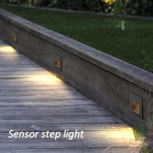 5W led na taras krok lampa narożna czujnik zewnętrzny krok światła schodowe wodoodporna wpuszczana wpuszczone schowane oświetlenie schodów