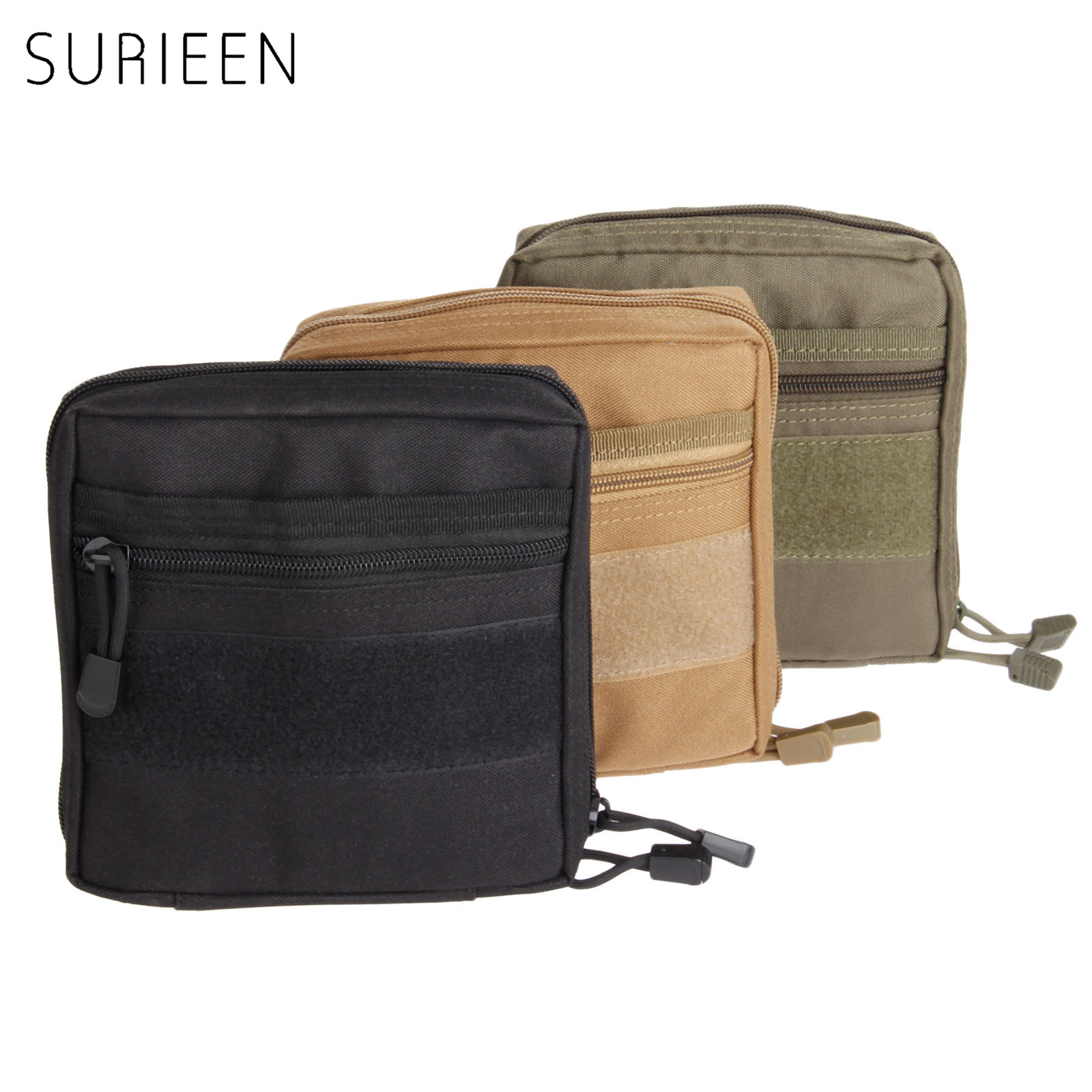 SURIEEN MOLLE Military Pouch Tactical 1000D Emergency Medical Kits Outdoor First Aid Survival Bag Multi EDC Gadget Pouch Pocket