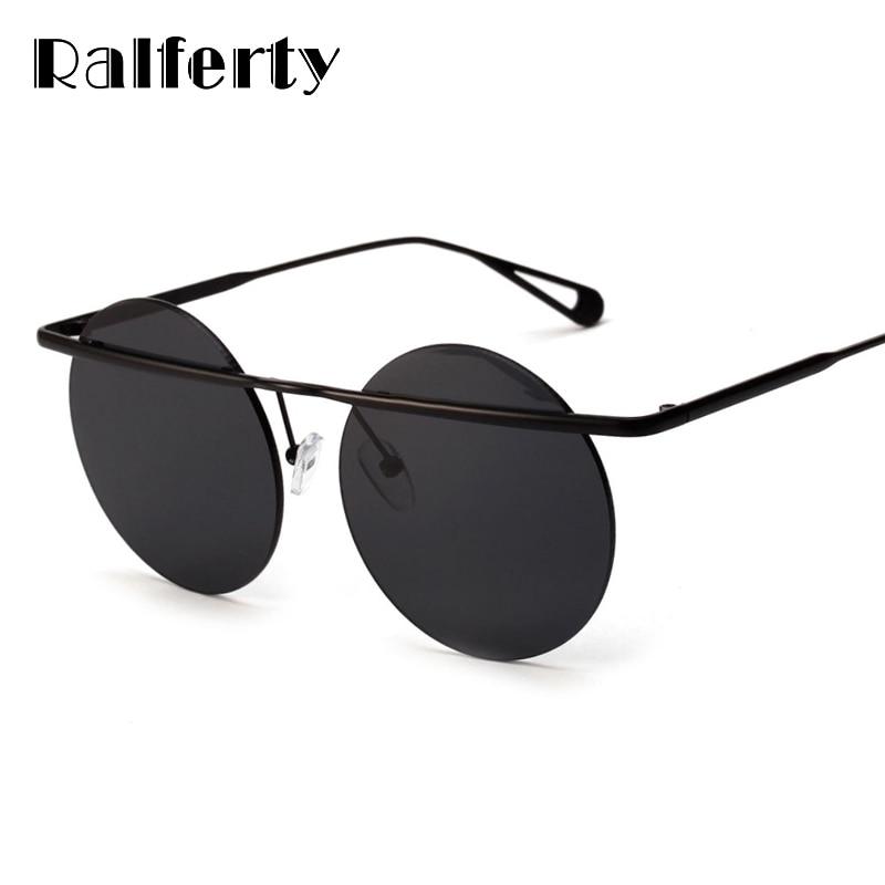 f8af43de07c Ralferty Vintage Round Sunglasses Women Men Retro Punk Gothic Sun Glasses  UV400 Transparent Sunglass Female Shades