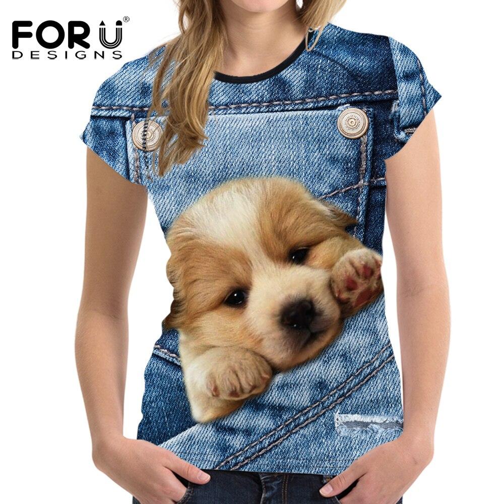 ΑΝΤΙΠΡΟΣΩΠΕΥΣΕΙΣ Denim 3D Pomeranian σκυλιών - Γυναικείος ρουχισμός - Φωτογραφία 6