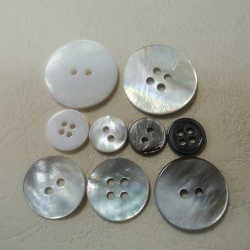 20 mm 22 mm 5 pièces Chemisiers Rustique Argent Antique Boutons 4 Trous Plat 18 mm