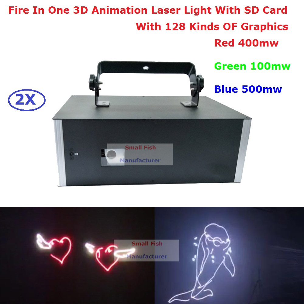 все цены на 2Pcs/Lot Best Price High Power Stage Laser Light 1W RGB Full Color Beam Animation Laser With SD Card And 128 Kinds Of Graphics онлайн