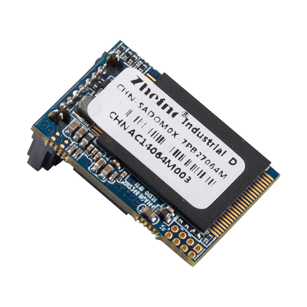 Zheino New SATA3 DOM 64GB SSD Industrial Disk on Module SATAIII 6Gb/s 7Pins Horizontal (Corner) Reverse 270 Degree MLC DOM