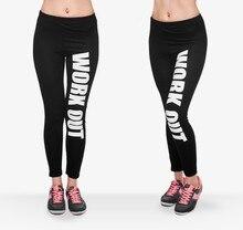 Fashion High Elastic Leggings Women's Workout Pants Fitness Leggins Sporting Activewear Female Print Leggings