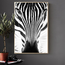 Wall Art Painting Poster 100% Handmade Canvas Oil Painting Minimalism Animal Zebra Abstract For Living Room No Frame Home Decor(China)