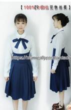 Anime Fate/Stay Night Saber Cosplay Uniforme Blanco y Azul + Falda Disfraces de Halloween para Las Mujeres Ropa Casual