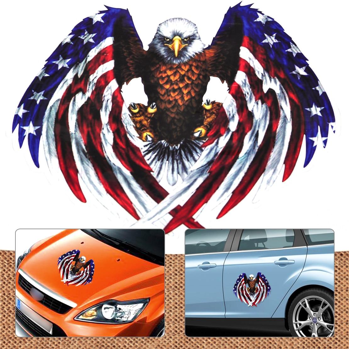 Car sticker eagle - Car Bumper Bike Laptop Window American United States Usa Flag Eagle Style Sticker For Vw Audi