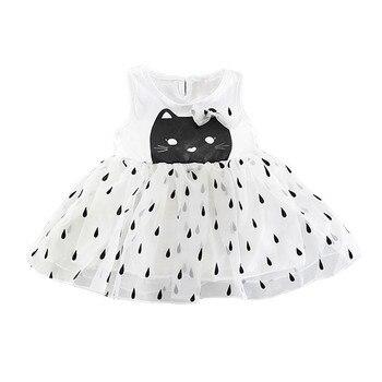 Summer Girl Clothes Princess Dresses Girls Infant Dress Sleeve For Girls Cute Dot Totter Dress conjuntos casuales para niñas