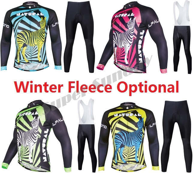 Mens Pro Team Cycling Jerseys Cycling Clothings Long Sleeve Bike Jerseys Winter Fleece Optional Riding Suits Free Shipping
