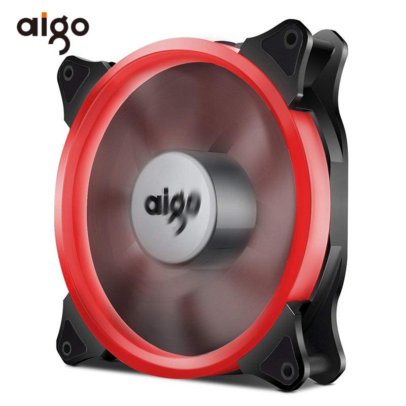 Aigo 140mm Aurora Fan PC Case Fan 4 Pin Led Halo Game Computer Cooling Fan Hydraulic Bearing 7 Blades Ventilador PC Cooler 12V