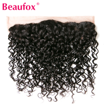 Beaufox Brazilian Water Wave Ear To Ear Lace Frontal Closure 100% Human Hair 8-20″ Natural Black Non-remy Free Shipping