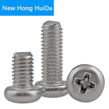 Phillips Pan Round Head Cross Recessed Screw Thread Metric Machine Bolt 304 Stainless Steel M8 new 1 m 304 stainless steel screw threaded rod m8 thread 8 1000mm reprap 3d printer parts accessories