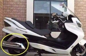 Image 2 - สำหรับ SUZUKI SKYWAVE AN250 AN400 รถจักรยานยนต์ล่องเรือสกูตเตอร์ chrome ท่อไอเสียฝาครอบท่อไอเสียฉนวนกันความร้อน cover