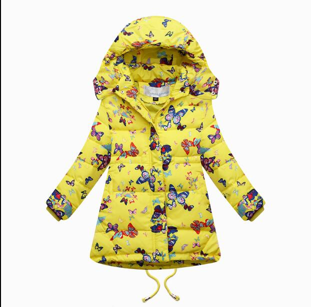 2016 Fashion Girl's Down jackets/coats winter Russia baby Coats thick duck Warm jacket Children Outerwears  HB1041 стоимость