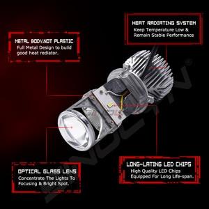 Image 2 - Sinolyn Bi led Lens LED H4 9003 Projector Headlight Lenses Mini 1.5 60W 5000K Tuning Car Motorcycle Light Accessories Retrofit