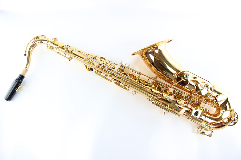 Gold Lacquer Students Kids Suzuki B Tenor Saxophone Profissional Sax Instrumentos Musicais Bb Saxofone Falling Tune B (C) professional play h68 phosphor bronze copper bb saxphone falling tune b bakelite mouthpiece head sax straight saxophone in bb