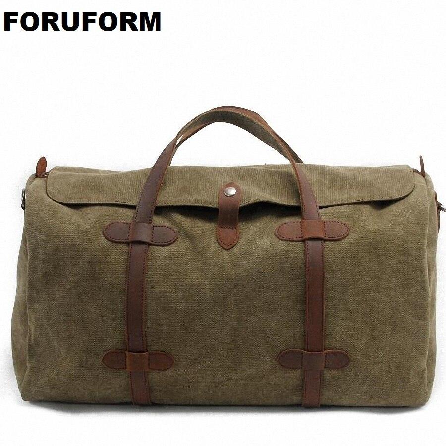 Корейський стиль Duffle Bag 2018 Чоловіки Жінки Подорожі Duffle Сумки Холст Сумка Сумка Велика Ємність Повсякденна Подорож Сумка LI-1257