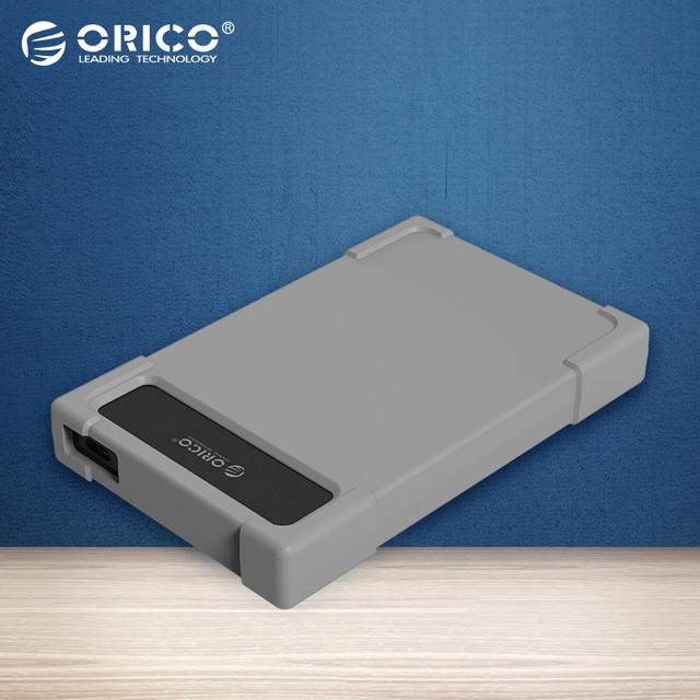 ORICO-Tipo C Adaptador de Disco Rígido Adaptador de 2.5 polegada Caixa de DISCO RÍGIDO Móvel HDD Ferramenta Gratuita com Couro (não incluindo HDD) (28UTS-C3)