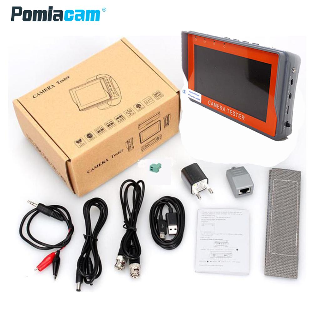 IV7A 4.3 Inch CCTV 1080P AHD CCTV Camera Tester RS-485 PTZ Contorl UTP Network Cable Test 1080P AHD Camera Testing Monitor