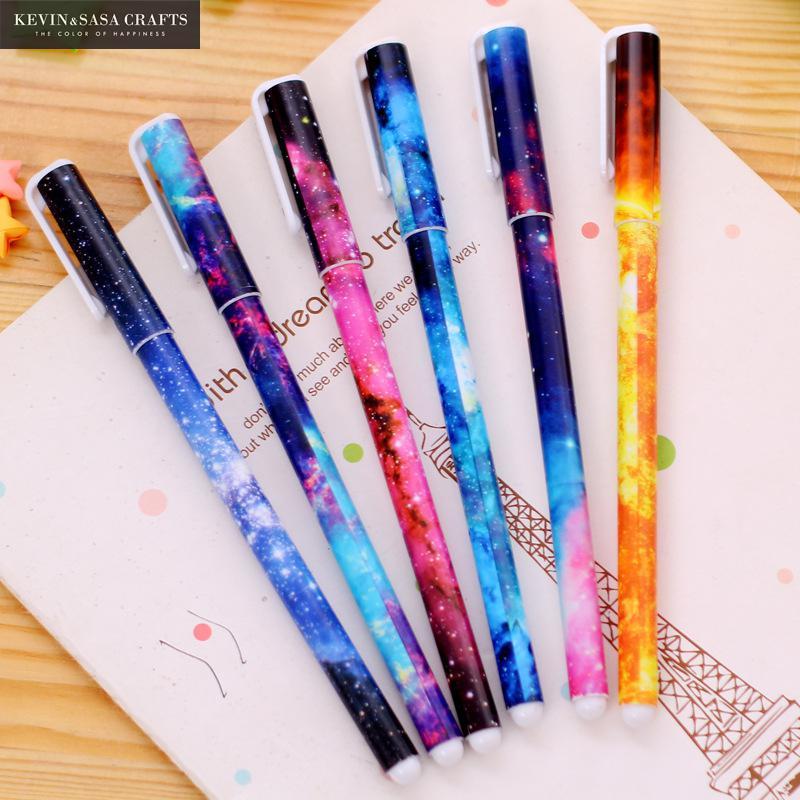 6Pcs/Set Gel Pen Cute Pen Stationery Kawaii School Supplies Gel Ink Pen School Stationery Office Suppliers Pen Kids Gift Office