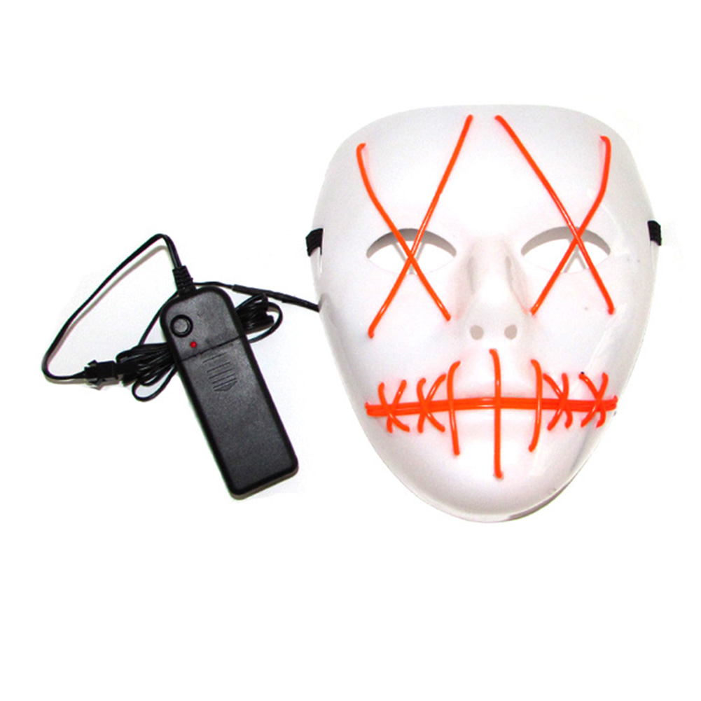 HTB1sSsIbm3PL1JjSZFxq6ABBVXaP - 1 Piece Halloween ghost Slit mouth light up glowing LED Mask Costume PTC 259