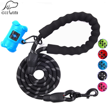 Dog Leash Pet Products for Large Leashes Collar Harness Puppy Accessories Reflective Lead Dog-Collar JW0056