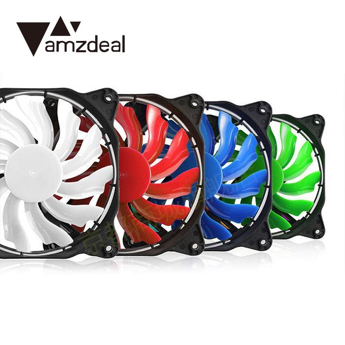 amzdeal Laptop Eclipse 120mm LED Fan Guide Ring Plastic DC 12V Red/Blue/Red/Green Light Connector Easy Installed Fan кулер cougar cfd120 led fan green