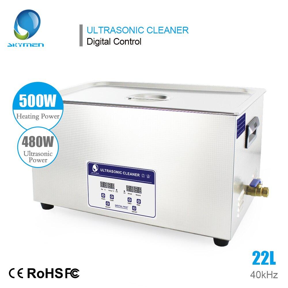 SKYMEN Digitale 22L 480 w Pulitore Ad Ultrasuoni Riscaldata Timer In Acciaio Da Bagno Cestini Industriale Parti di Strumenti di Laboratorio Medico