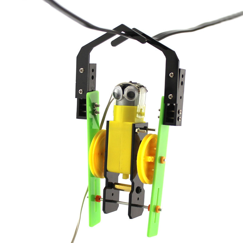 DIY Wire Control Climb Robot Handmade Toys Physical Science Experiment Teaching Resources For Kids Creative Toy Teaching Tool