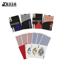 K8356 2 Sets/Lot Baccarat Texas Hold'em Plastic Playing Cards Waterproof Frosting Poker Card Board Bridge Game 2.28*3.46 inch