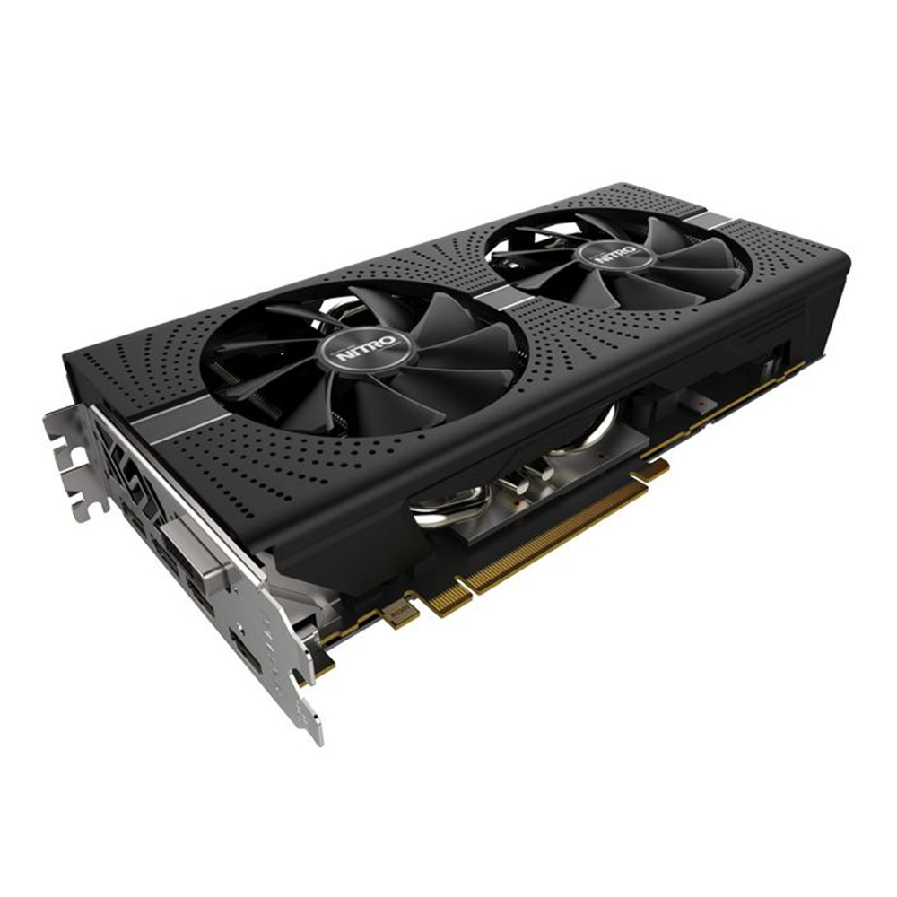 SAPPHIRE Graphics card NITRO Radeon RX580 8G  256bit AMD GDDR5 8000MHz 1411MHz DirectX 12 2304units video card for Gaming 1