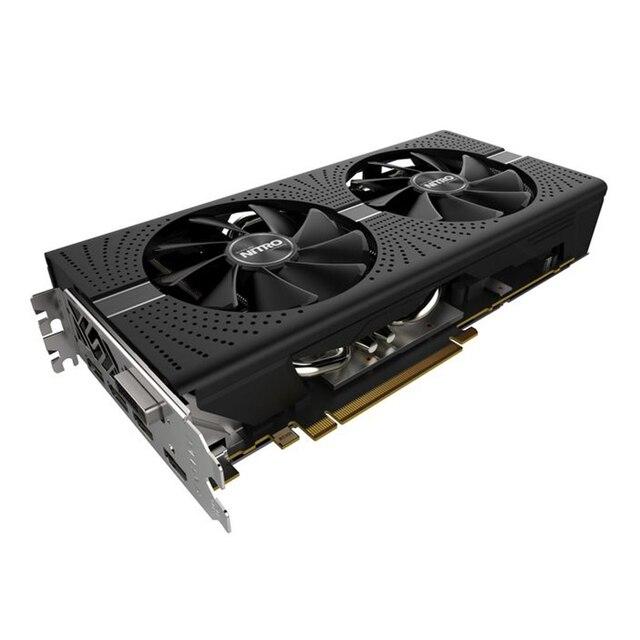 SAPPHIRE Graphics card NITRO Radeon RX580 8G  256bit AMD GDDR5 8000MHz 1411MHz DirectX 12 2304units video card for Gaming 1