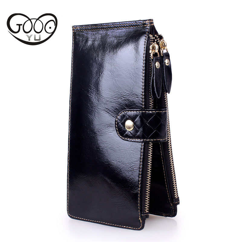 Europe and the United States fashion first layer of leather multi-color long wallet large capacity multi-card female wallet europe and the united states in the summer of new crystals with dew toe hit the color of the air after the air buckle with a thi