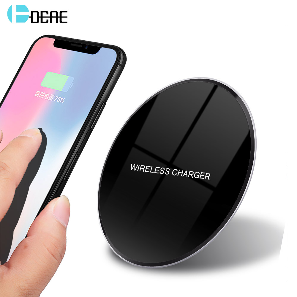 DCAE QI Wireless-Ladegerät für iPhone X 8 XS MAX XR Samsung S9 S8 Hinweis 9 Xiaomi Huawei Wireless Ladestation Docking Dock Station