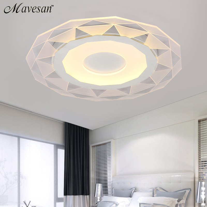 White Minimalism Ultrathin Modern LED Ceiling Light For Living Room Kitchen B