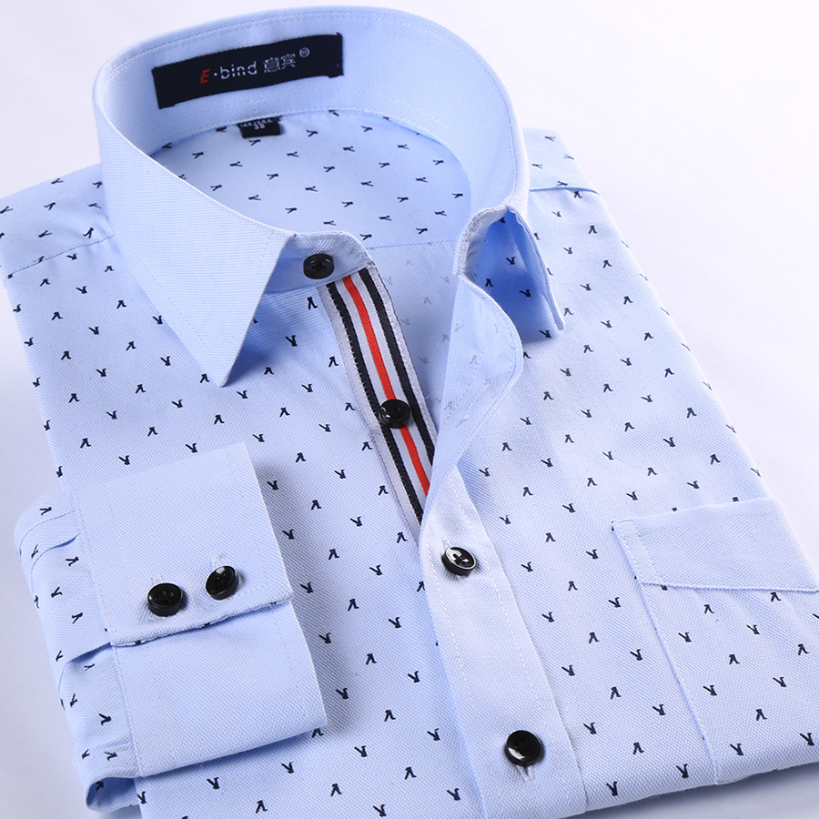 Men Shirt Stylish Casual Chemise Homme Printed Mens Dress Shirts